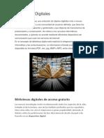 Bibliotecas Digitales de Acceso Gratuito1