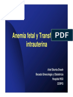 Anemia Fetal y Transfusion Intrauterina; Dr Ariel Skorka Dvash Archivo