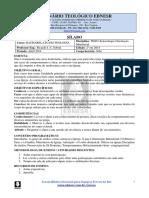 Sílabo-TE803-Eclesiologia - Orientação Ministerial..pdf