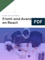 Plan de Estudios - Front-End Avanzado en React