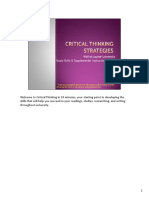 Critical Thinking Strategies made easy
