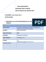 Ficha Bibliografica Analisis Discurso, Lucas Puentes
