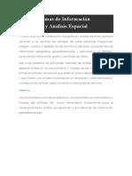 Curso Sistemas de Información Geográfica y Análisis Espacial