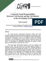 CSR Civil Society Oil Industry