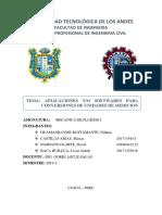 Castillo,Baca,Damiano, Huamanrayme. Aplicaciones de Conversiones de Unidades
