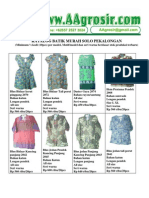 Baju Murah Jual Grosir Batik Solo Pekalongan Model Terbaru 2010 Aagrosir.com Katalog 2 November