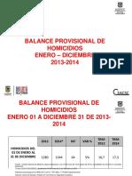 Homicidios Bogotá 2013-2014