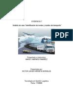 análisis del caso modo y medios de transporte