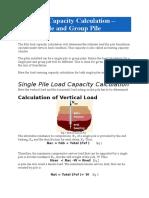 Pile Load Capacity