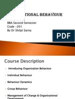 Organisational Behaviour - Introduction