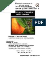 Práctica 1 - Química Orgánica II - Extracción de Aceites Esenciales