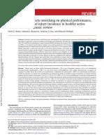 Efectos Del Estiramiento Sobre El Performance Fisico INGLES