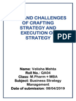 joys and challenges for crafting and implementing strategy