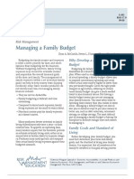 Managing a Family Budget
