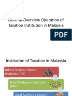 Operation of Tax in Malaysia (SYAZ)