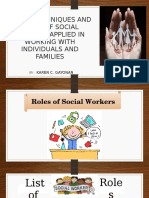 Roles, Techniques and Skills of Social Worker Working With Individual and Families (by Karen c. Gayonan
