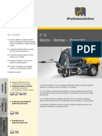 Ficha Tecnica P13 Equipo de Mortero PUTZMEISTER