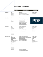 Research Checklist & Process