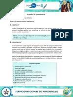 Actividad de Aprendizaje 4 Español