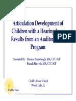 Articulation Development(4)