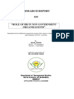 Role of Human-resource in Non-government Organisation.