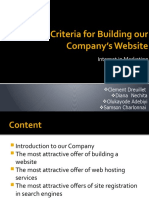 Criteria for Building Our Company's Website (2)