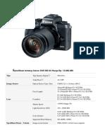 Spesifikasi Kamera Dan Printer