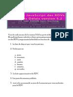 Utilitaire Javascript Des RDVs Et Autres Délais Version 5