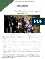El Comunista » El gobierno de la Cuarta Transformación contra los migrantes.pdf