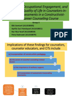 power point about Work Values, Occupational Engagement, and Professional Quality of Life in Counselors-in-Training