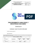 CI031718-OPO-PRO-005 Habilitado y Colocado de Acero V0