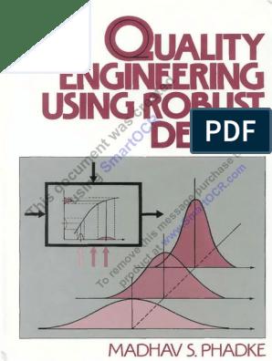 Madhav S Phadke Quality Engineering Usi