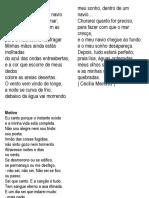 Poemas selecionados - MODERNISMO