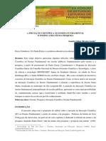 A INICIAÇÃO CIENTÍFICA NO ENSINO FUNDAMENTAL O ENSINO ATRAVÉS DA PESQUISA