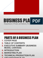2018_2ndsem_format of Business Plan