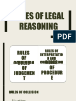 Rules of Legal Reasoning