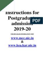 PG Admission Proforma 2019-20