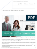4 Big Ideas That Lead to Breakthroughs - Proctor Gallagher Institute
