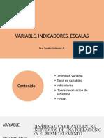 Variables, Indicadores, Ov, Escalas
