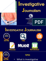 SAS Investigative Journalism