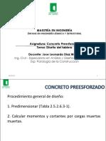 13. Presentacion Curso Preesforzados - Diseño de las vigas.pdf