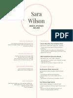sara wilson resume