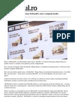 Rivalitate Burger King Mcdonalds