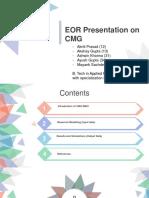 EOR Presentation With CMG