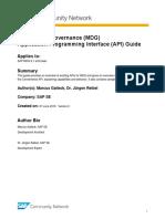 MDG API