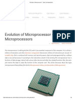 Evolution of Microprocessor - Types and Applications