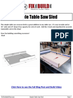 FixThisBuildThat.com Simple Table Saw Sled v1