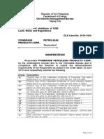 Ichiro v. Ippo Et Al. Manifestation-Draft2