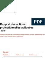 Rapport Des Actions Professionnelles Apliquées