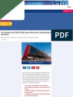 11 museus em São Paulo que oferecem entrada gratuita em algum dia da semana